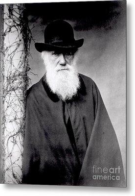 Portrait Of Charles Darwin Metal Print by Julia Margaret Cameron