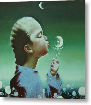 Portrait Of Daughter Metal Print by Andrej Vystropov