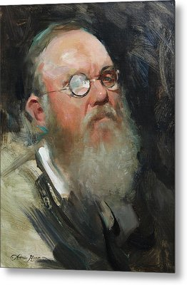 Portrait Of Dave Metal Print by Anna Rose Bain
