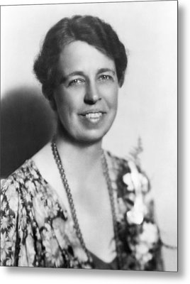 Portrait Of Eleanor Roosevelt Metal Print by Underwood Archives