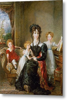 Portrait Of Elizabeth Lea And Her Children Metal Print by John Constable