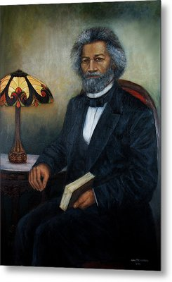 Portrait Of Frederick Douglass Metal Print by Sylvia Castellanos