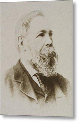 Portrait Of Friedrich Engels Metal Print by Karl Pinkau