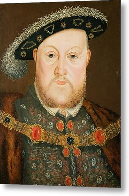 Portrait Of Henry Viii Metal Print by English School