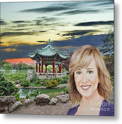 Portrait Of Jamie Colby By The Pagoda In Golden Gate Park Metal Print