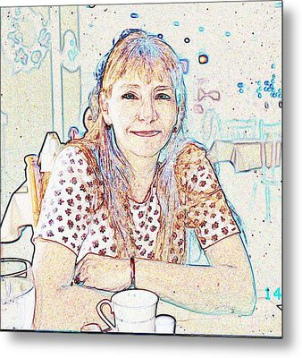 Portrait Of Janet Metal Print by Fred Jinkins