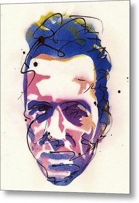 Portrait Of Joe Strummer Metal Print