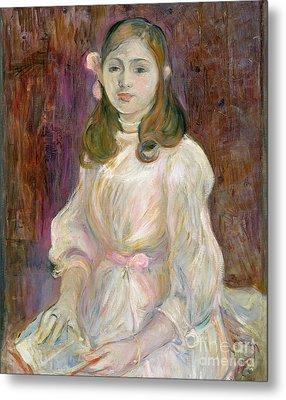 Portrait Of Julie Manet Metal Print by Berthe Morisot