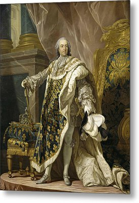 Portrait Of Louis Xv Of France Metal Print