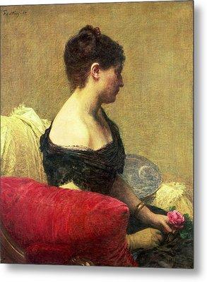 Portrait Of Madame Maitre Metal Print