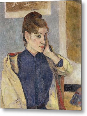 Portrait Of Madeleine Bernard Metal Print by Paul Gauguin