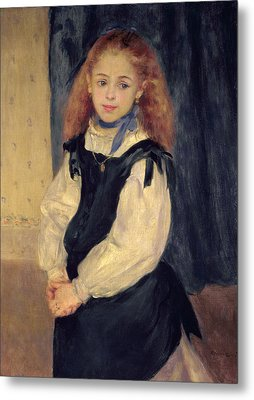 Portrait Of Mademoiselle Legrand Metal Print by Pierre Auguste Renoir
