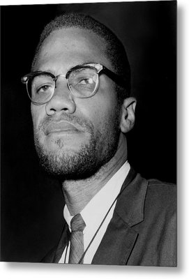 Portrait Of Malcolm X. 1964-65 Metal Print by Everett