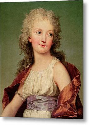 Portrait Of Marie-therese Charlotte Of France Metal Print