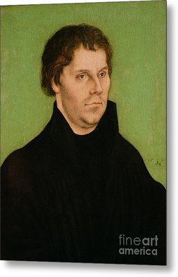 Portrait Of Martin Luther Metal Print by Lucas Cranach the Elder