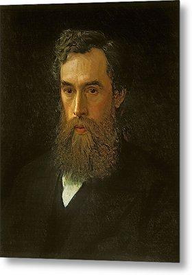 Portrait Of Pavel Tretyakov  Metal Print by Ivan Kramskoy