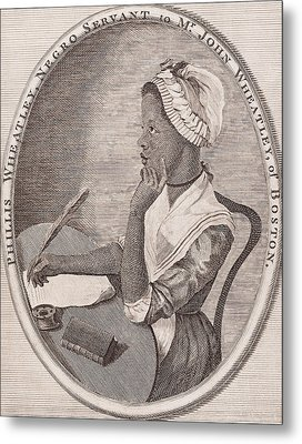 Portrait Of Phillis Wheatley Metal Print by American School