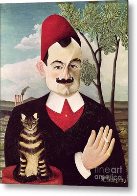 Portrait Of Pierre Loti Metal Print by Henri Rousseau
