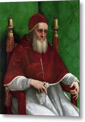 Portrait Of Pope Julius II - 1511 Metal Print by Raphael