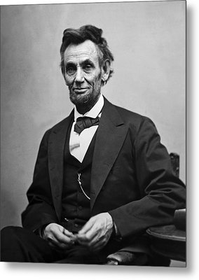 Portrait Of President Abraham Lincoln Metal Print