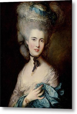 Portrait Of The Duchess Of Beaufort Metal Print by Thomas Gainsborough