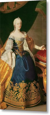 Portrait Of The Empress Maria Theresa Of Austria Metal Print by Martin Mytens or Meytens