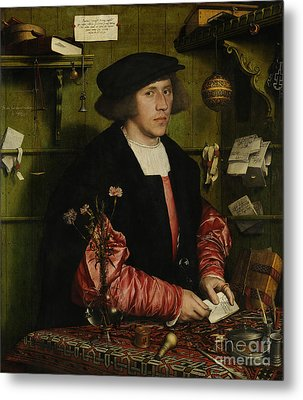 Portrait Of The Merchant George Gisze Metal Print by Hans Holbein