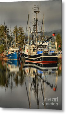 Portrait Of The Ucluelet Trawlers Metal Print by Adam Jewell
