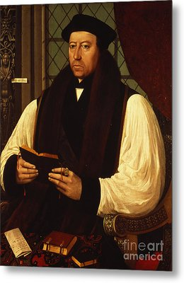 Portrait Of Thomas Cranmer Metal Print by Gerlach Flicke