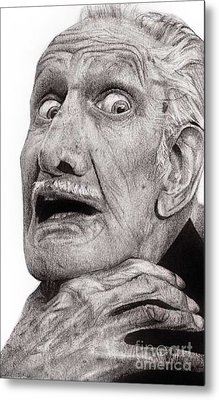 Portrait Of Vincent Price Metal Print by Carrie Jackson