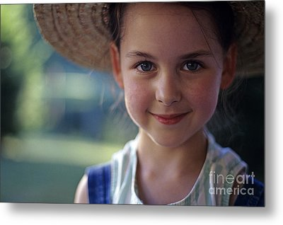 Portrait Of Young Girl Metal Print