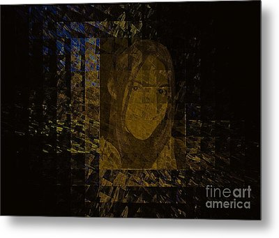 Portrait Reflection From Fresnel Prisms Metal Print by Viktor Savchenko