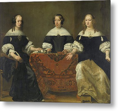 Portraits Of The Three Regentesses Of The Leprozehnhuis Amsterdam Metal Print