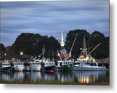 Portsmouth Fish Pier Metal Print by Eric Gendron