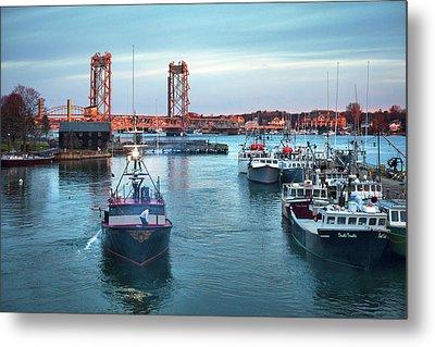 Portsmouth Fishing Boats Metal Print
