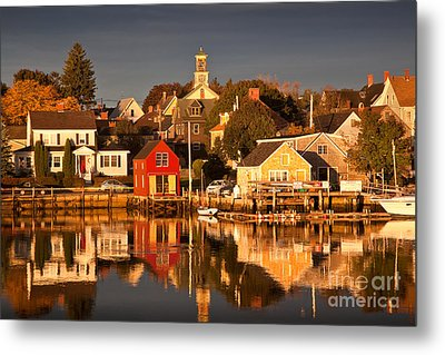 Portsmouth Reflections Metal Print by Susan Cole Kelly