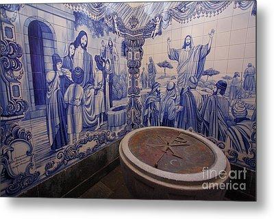 Portuguese Azulejo Mural Metal Print by Gaspar Avila