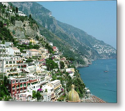 Positano In The Afternoon Metal Print by Donna Corless