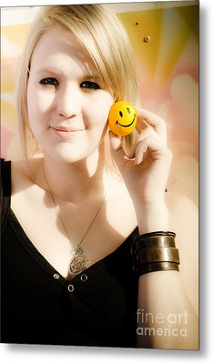 Positive Expression Of Joy And Happiness Metal Print