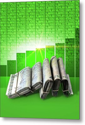 Positive Market Money Metal Print