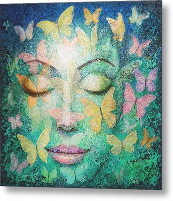 Metal Print featuring the painting Possibilities Meditation by Sue Halstenberg