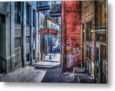 Post Alley Straggler Metal Print by Spencer McDonald