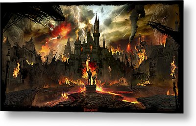 Post Apocalyptic Disneyland Metal Print by Alex Ruiz