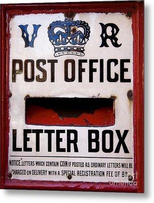 Post Box Metal Print by Jane Rix