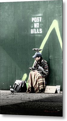 Post No Bills Metal Print by Marvin Spates