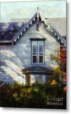 Metal Print featuring the photograph Postage Due - Farmhouse Window by Janine Riley