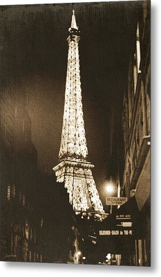 Postcard From Paris- Art By Linda Woods Metal Print by Linda Woods