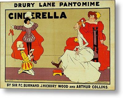 Poster For Cinderella Metal Print by Tom Browne
