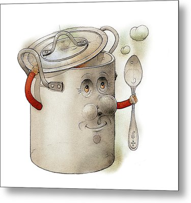 Pot Metal Print by Kestutis Kasparavicius