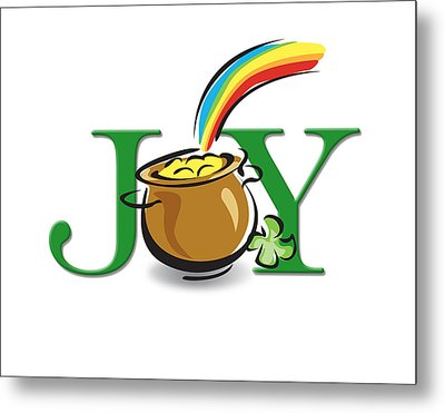 Pot Of Gold Joy Metal Print